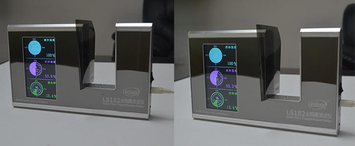 太阳膜测试仪测量不同太阳膜