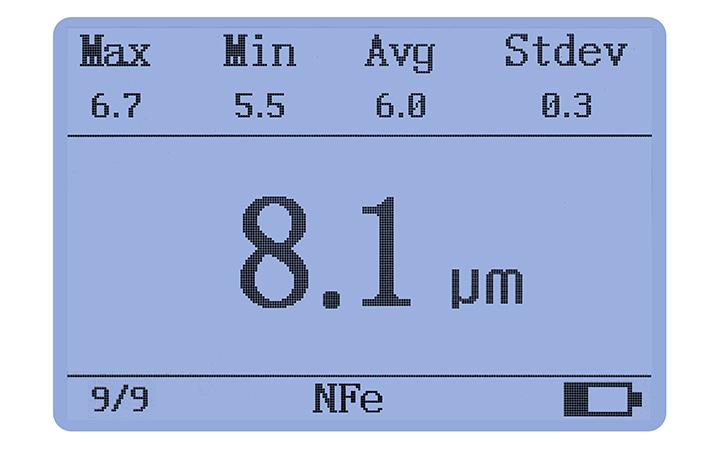 LS225+N1500涂层测厚仪测量界面